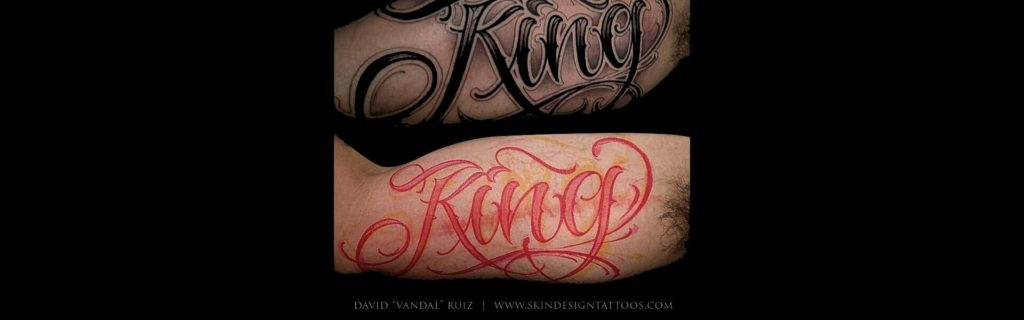 Las Vegas Lettering Script Tattoos Vandal