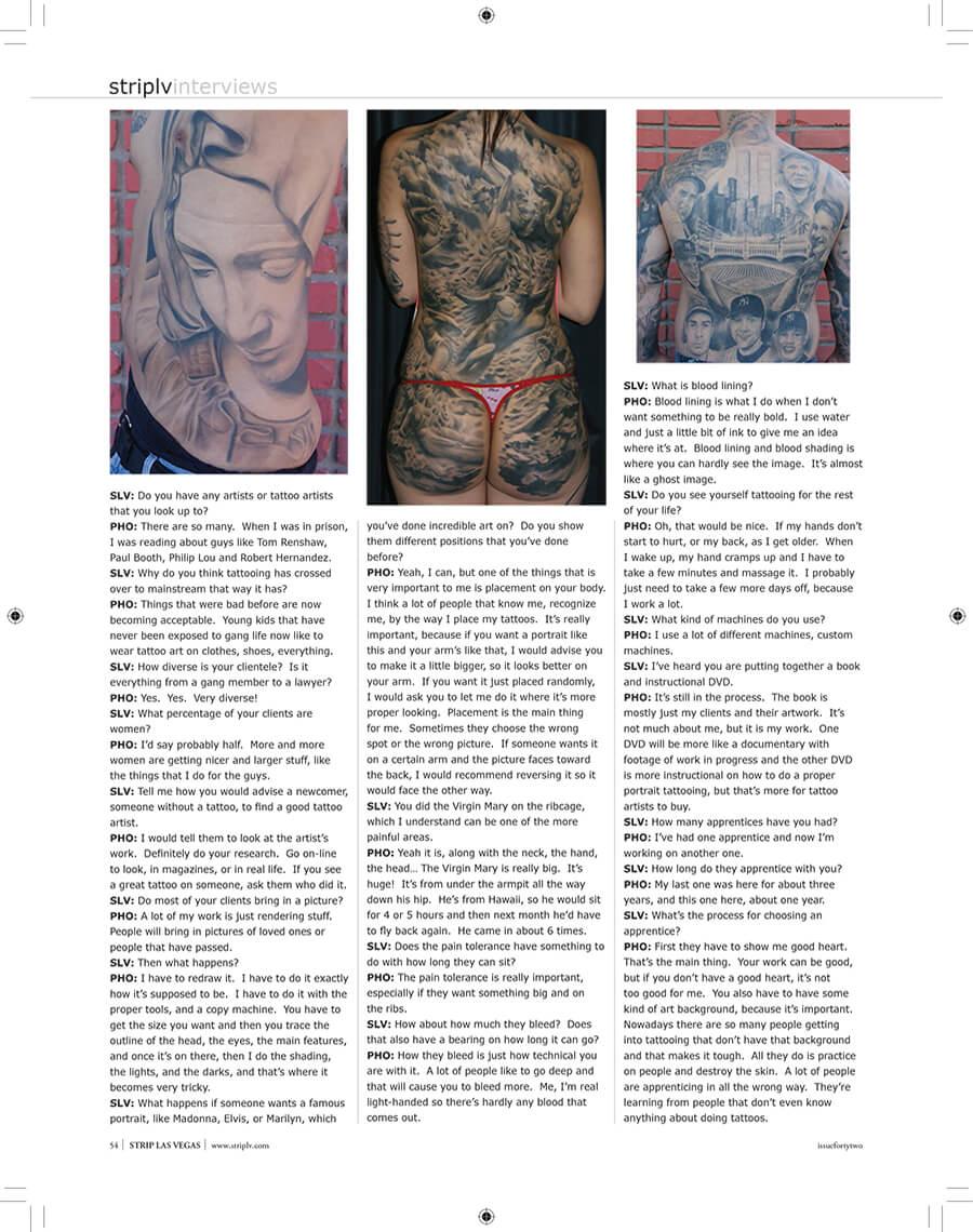 Skin Design Tattoo Strip LV Gallery